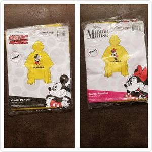 Disney Mickey & Minne Youth Florida Rain Pocho Set